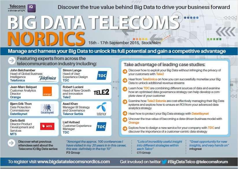 Big Data Telecoms Nordics Agenda