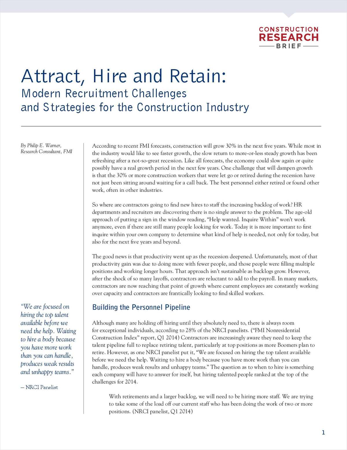 New Research on Construction Hiring Strategies