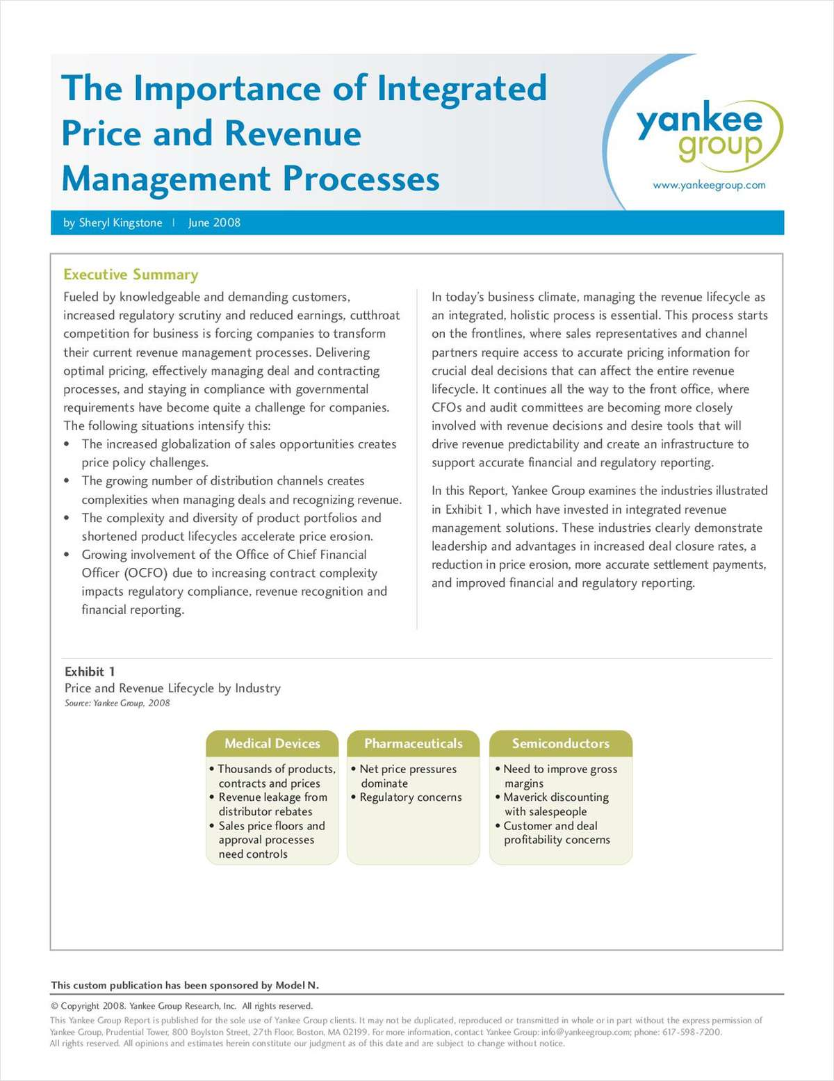 The Importance of Integrated Price and Revenue Management Processes