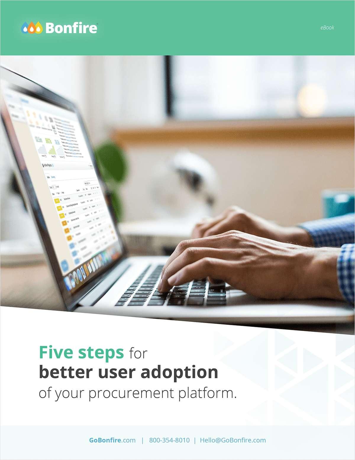Five steps for better user adoption of your procurement platform.