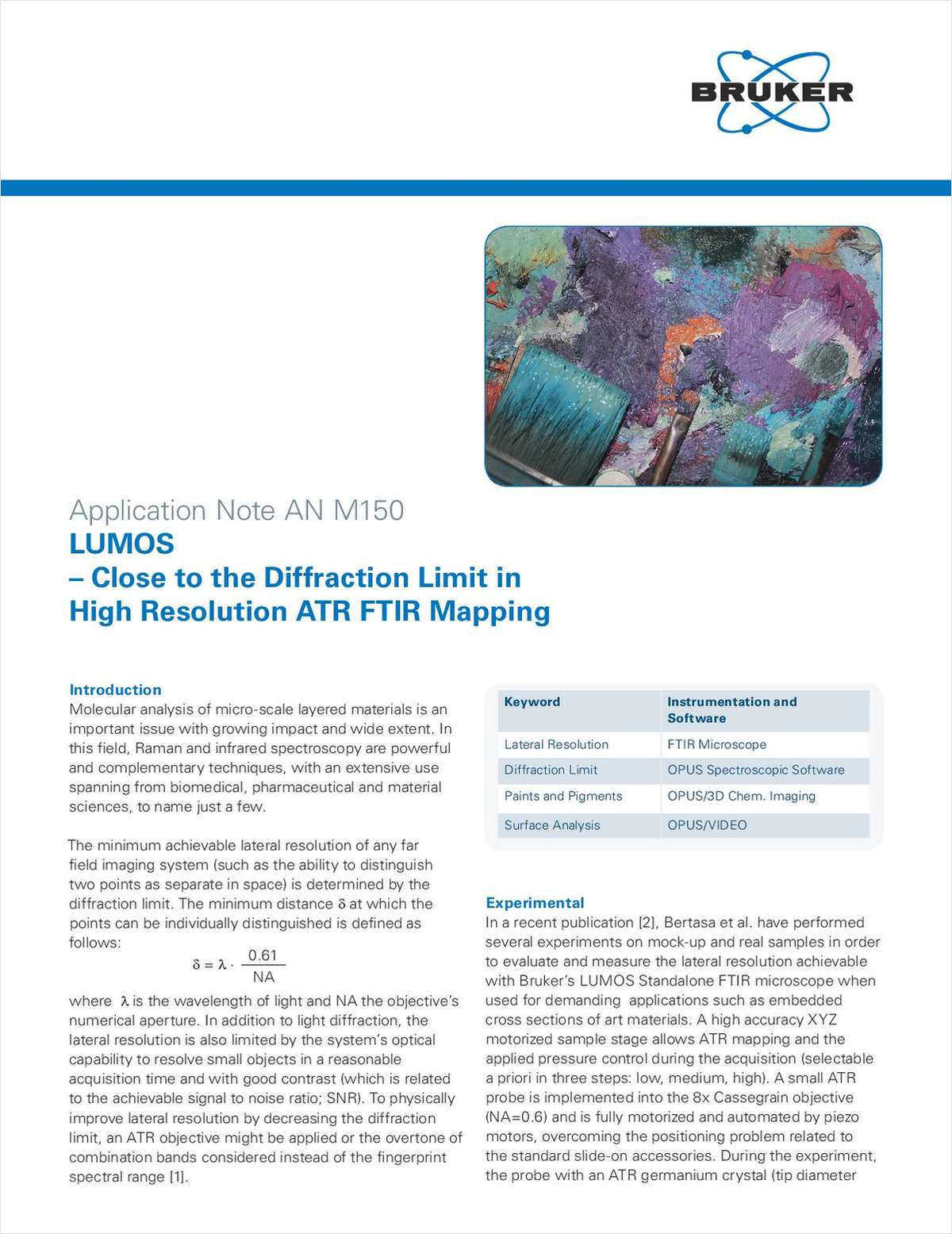 Molecular Analysis of Micro-Scale Layered Materials using FTIR Microscopy
