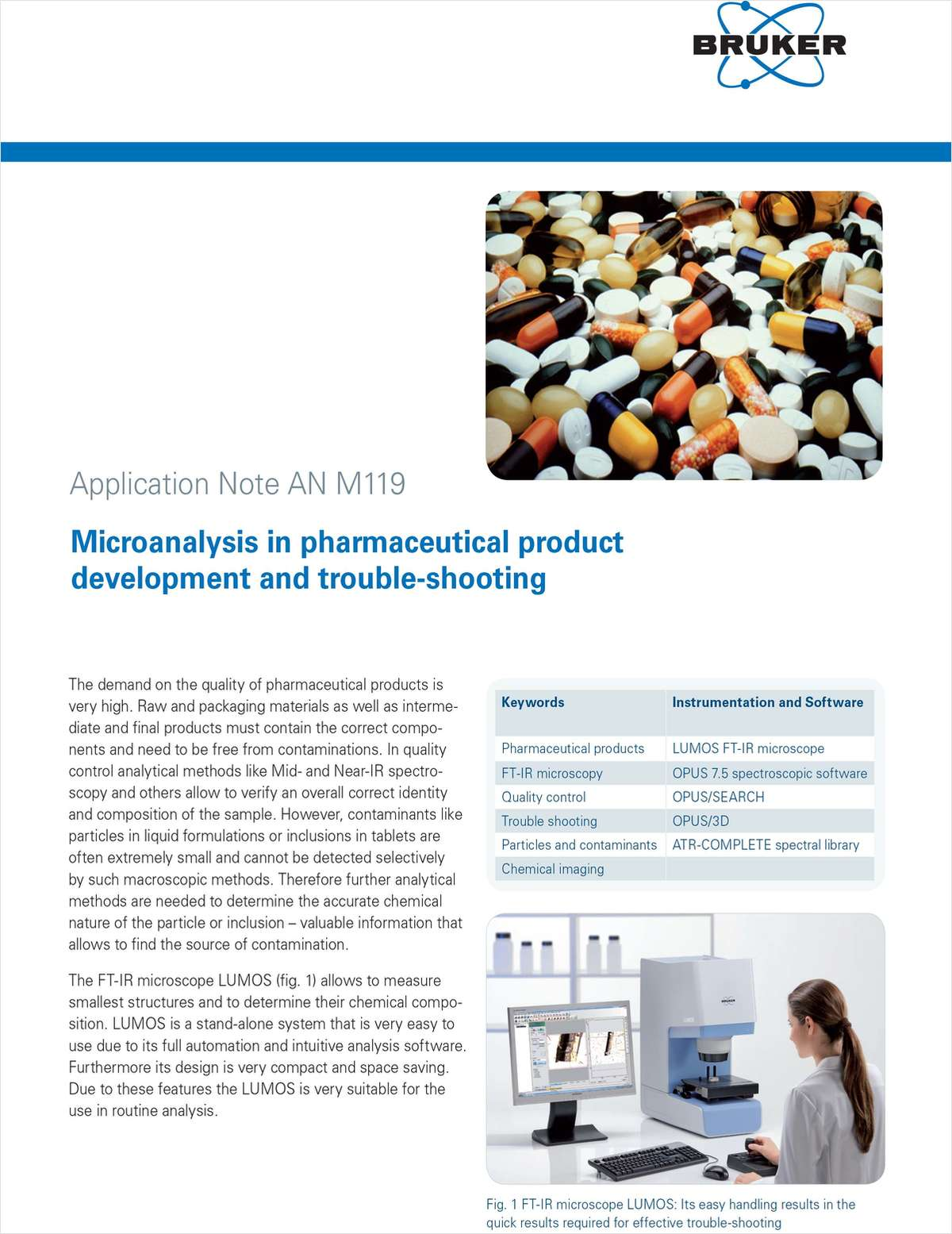 Microanalysis in Pharmaceutical Product Development and Trouble Shooting using FTIR Microscopy