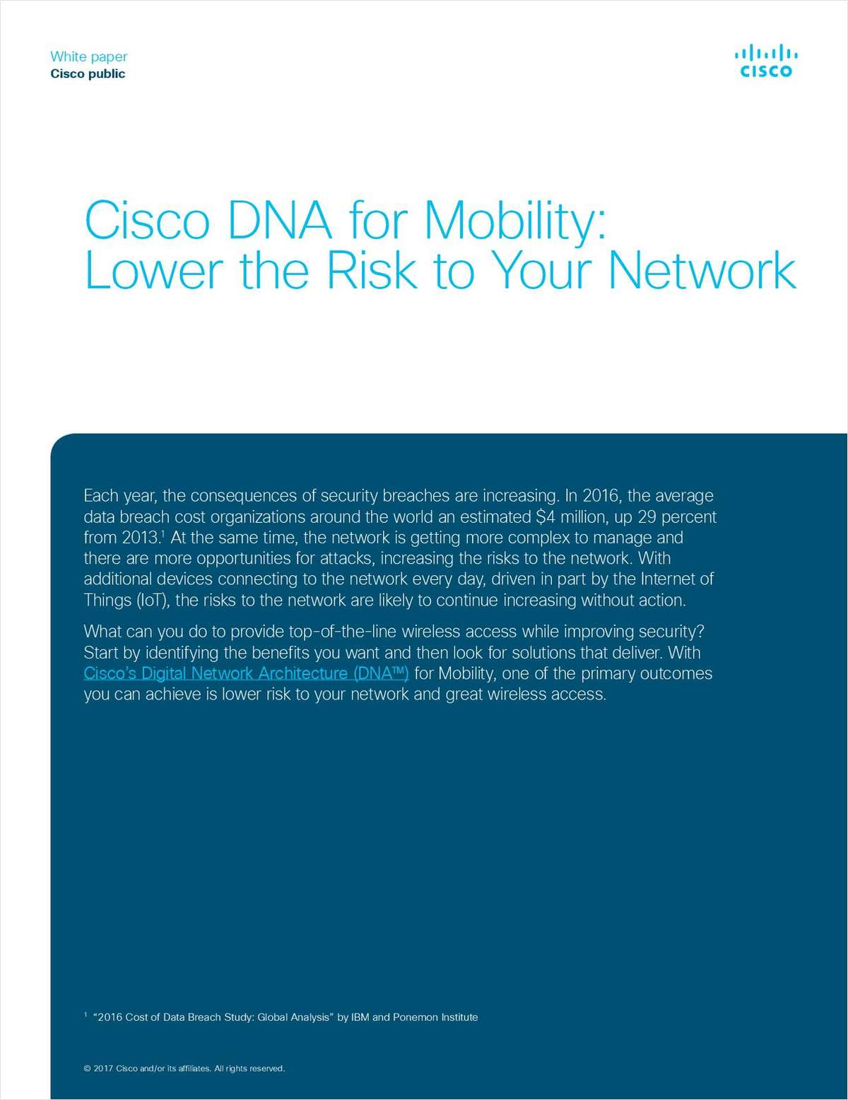 Cisco DNA for Mobility: Lower the Risk to Your Network