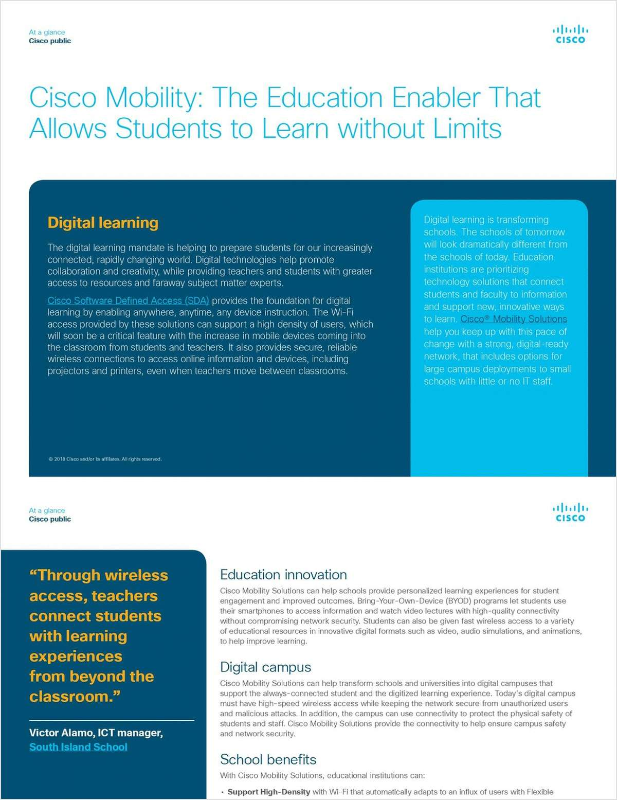 Cisco Mobility: The Education Enabler That Allows Students to Learn without Limits