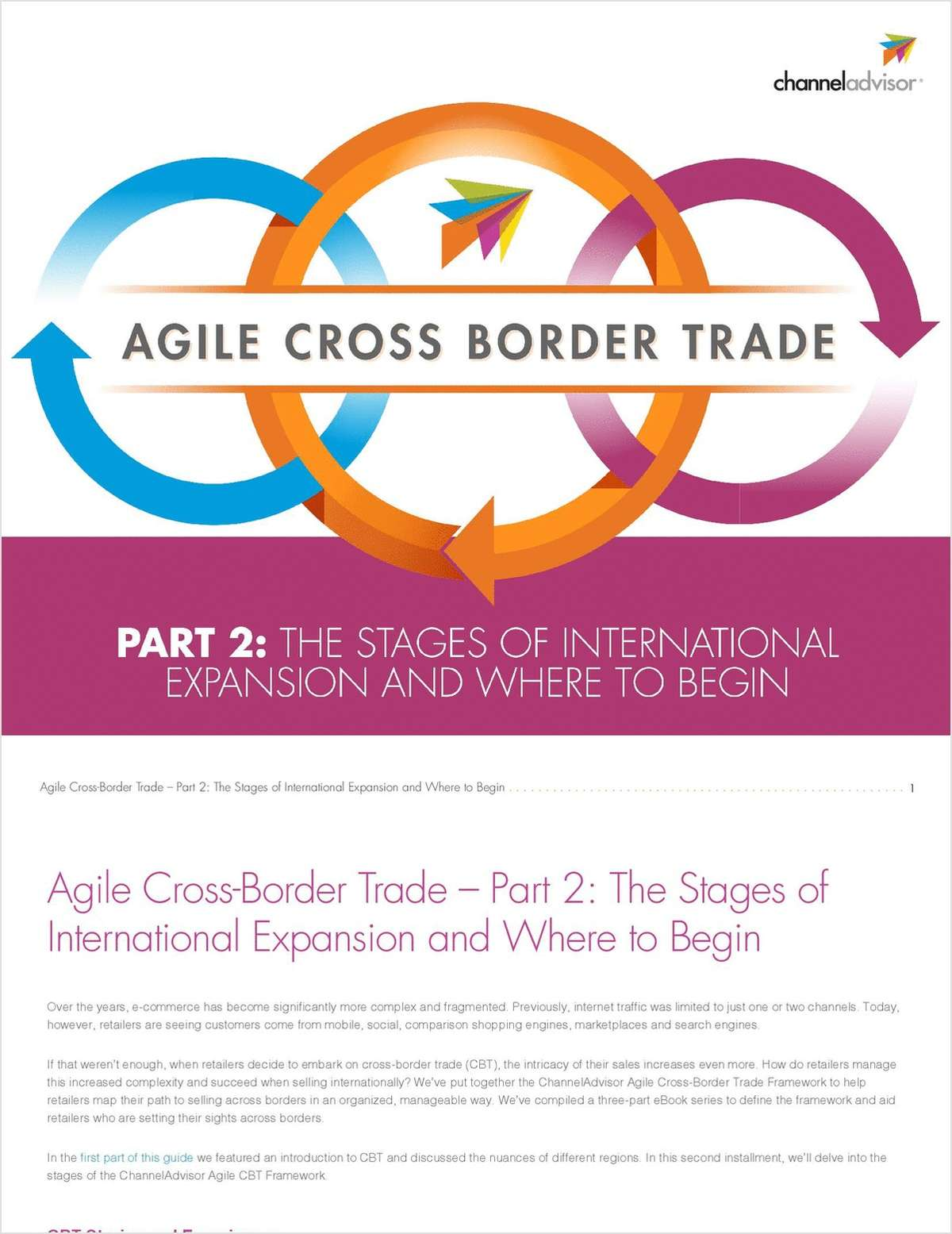 Agile Cross-Border Trade - Part 2: The Stages of International Expansion and Where to Begin