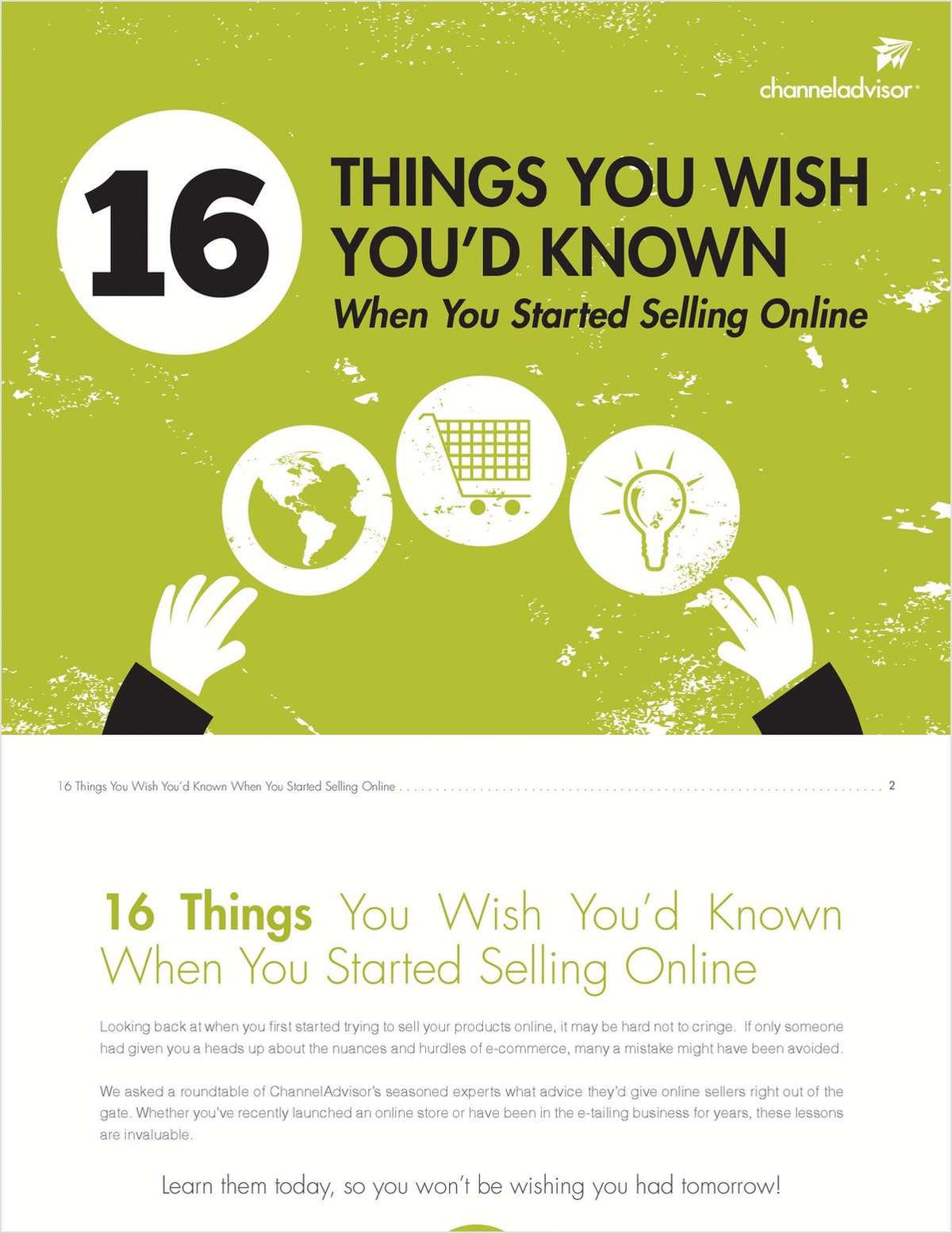 16 Things You Wish You'd Known When You Started Selling Online