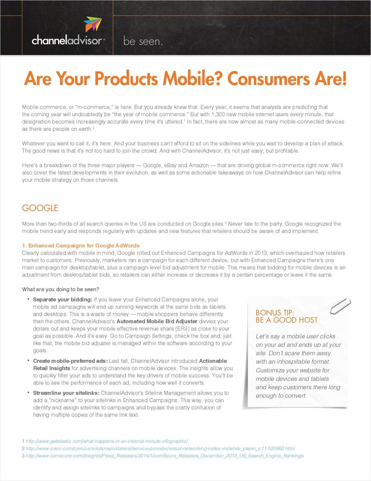 Are Your Products Mobile? Consumers Are!