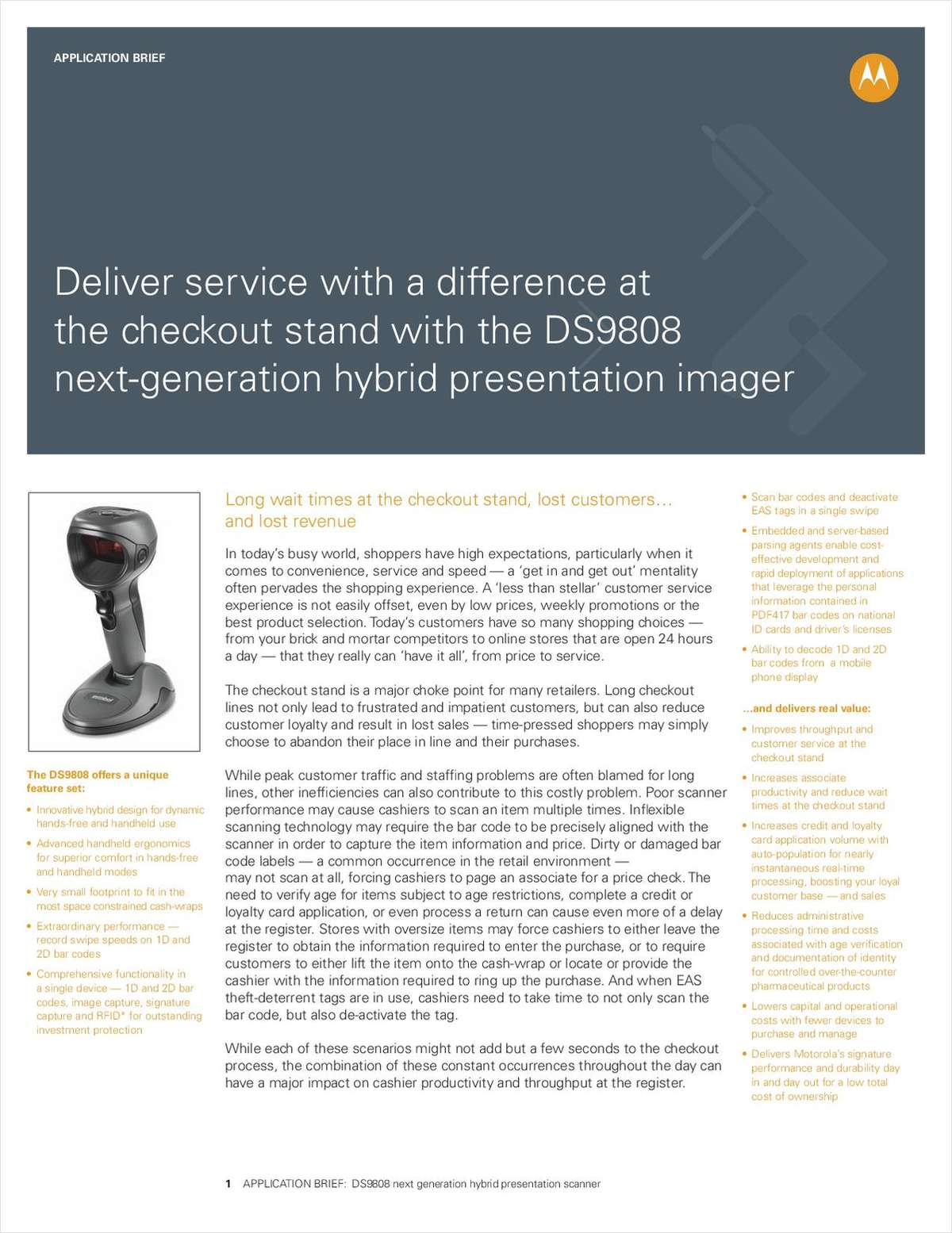 Deliver Service with a Difference Free Application Brief