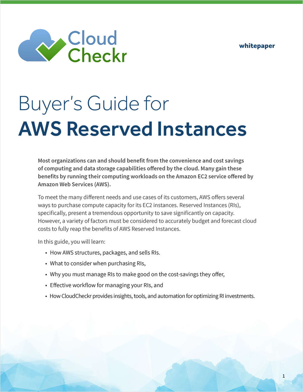 Buyer's Guide for AWS Reserved Instances