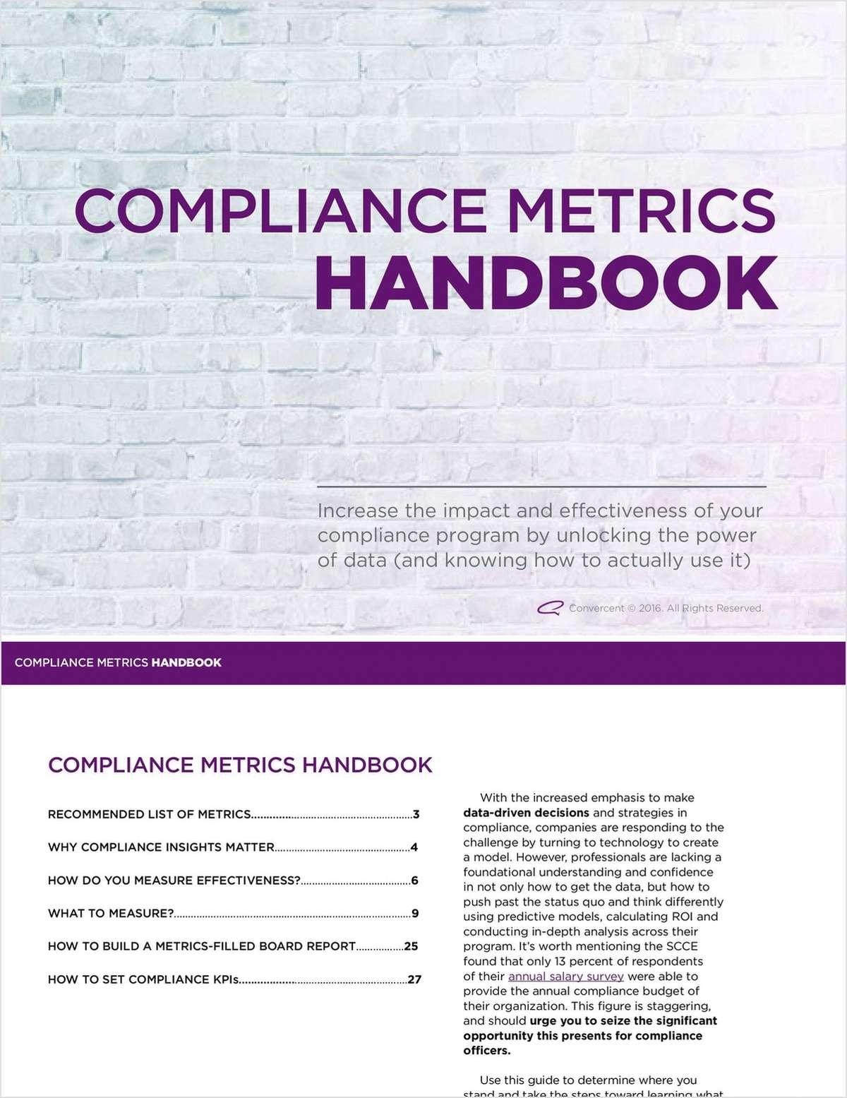 The Compliance Metrics Handbook