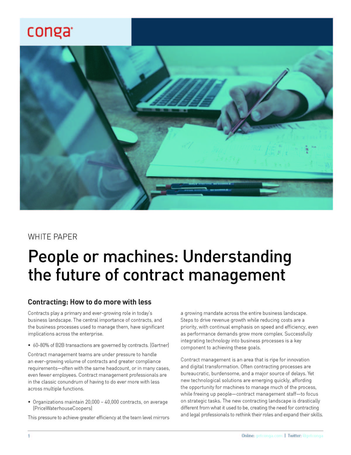 People or Machines: The Future of Contract Management