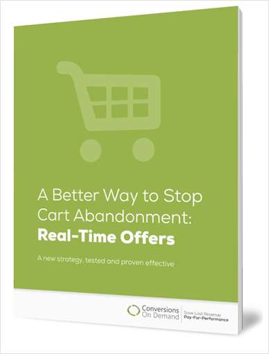 A Better Way to Stop Shopping Cart Abandonment: Real-Time Offers