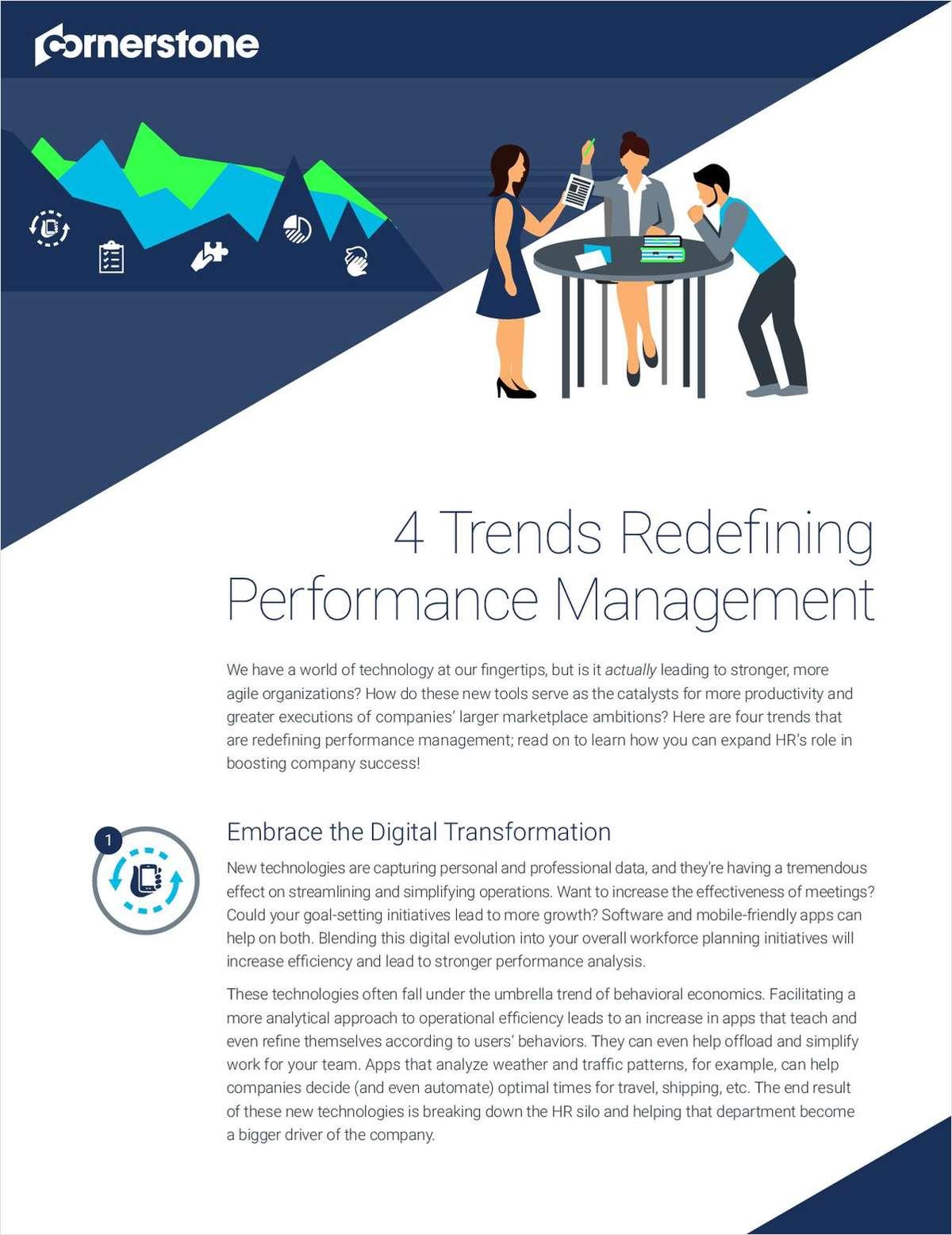4 Trends Redefining Performance Management