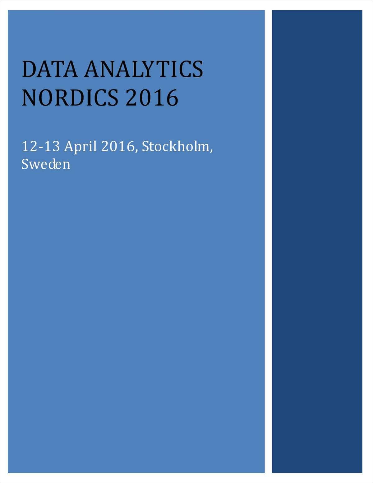 Data Analytics Nordics Preliminary Agenda