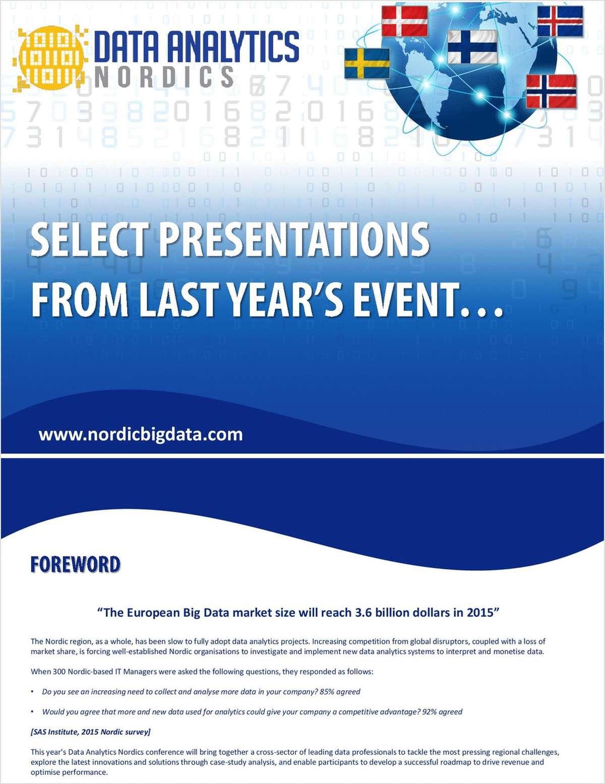 Select Presentations from Data Analytics Nordics