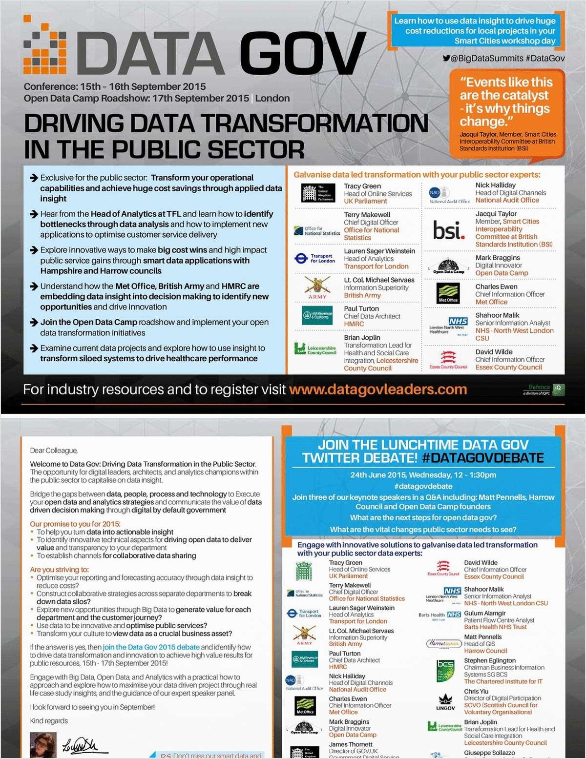 Data Gov Event Programme
