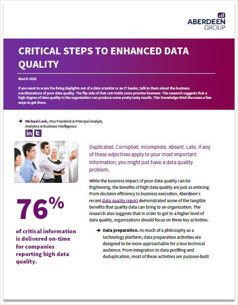 Critical Steps to Enhanced Data Quality