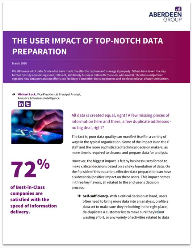 The User Impact of Top-Notch Data Preparation