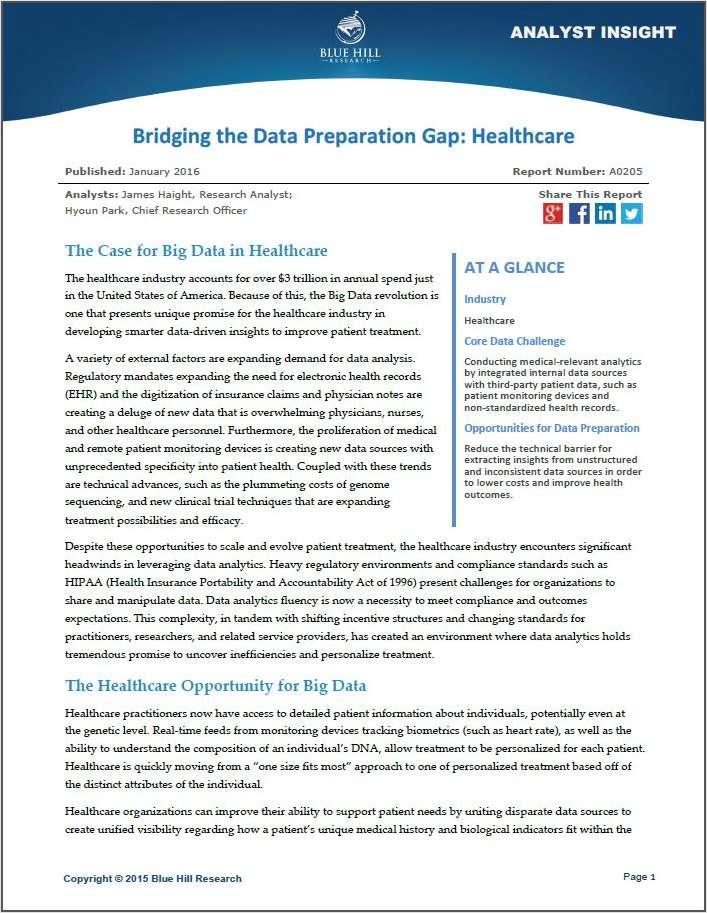 Bridging the Data Preparation Gap: Healthcare