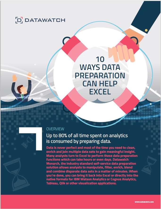 10 Ways Data Preparation Can Help Excel