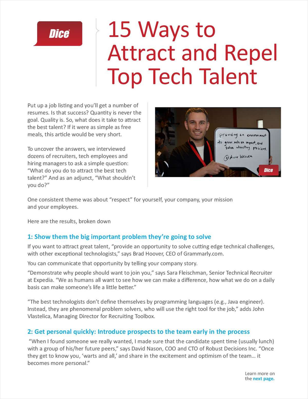 15 Ways to Attract and Repel Top Tech Talent