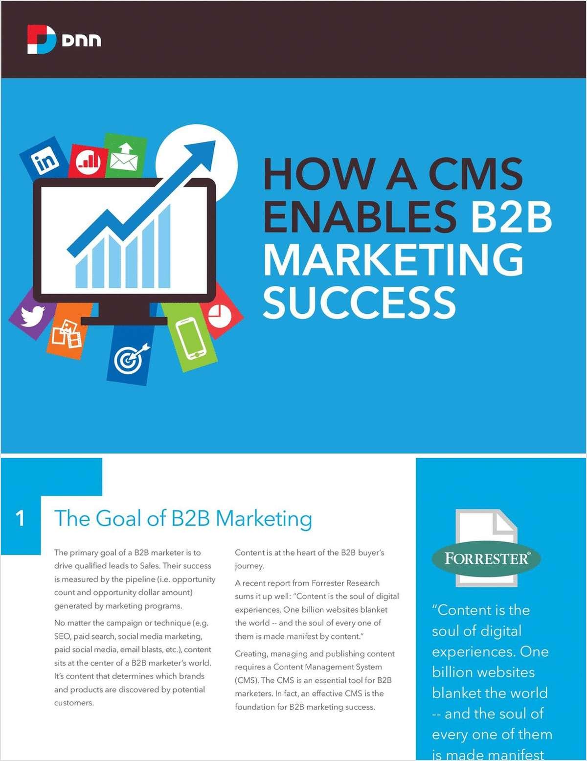 How a CMS Enables B2B Marketing Success