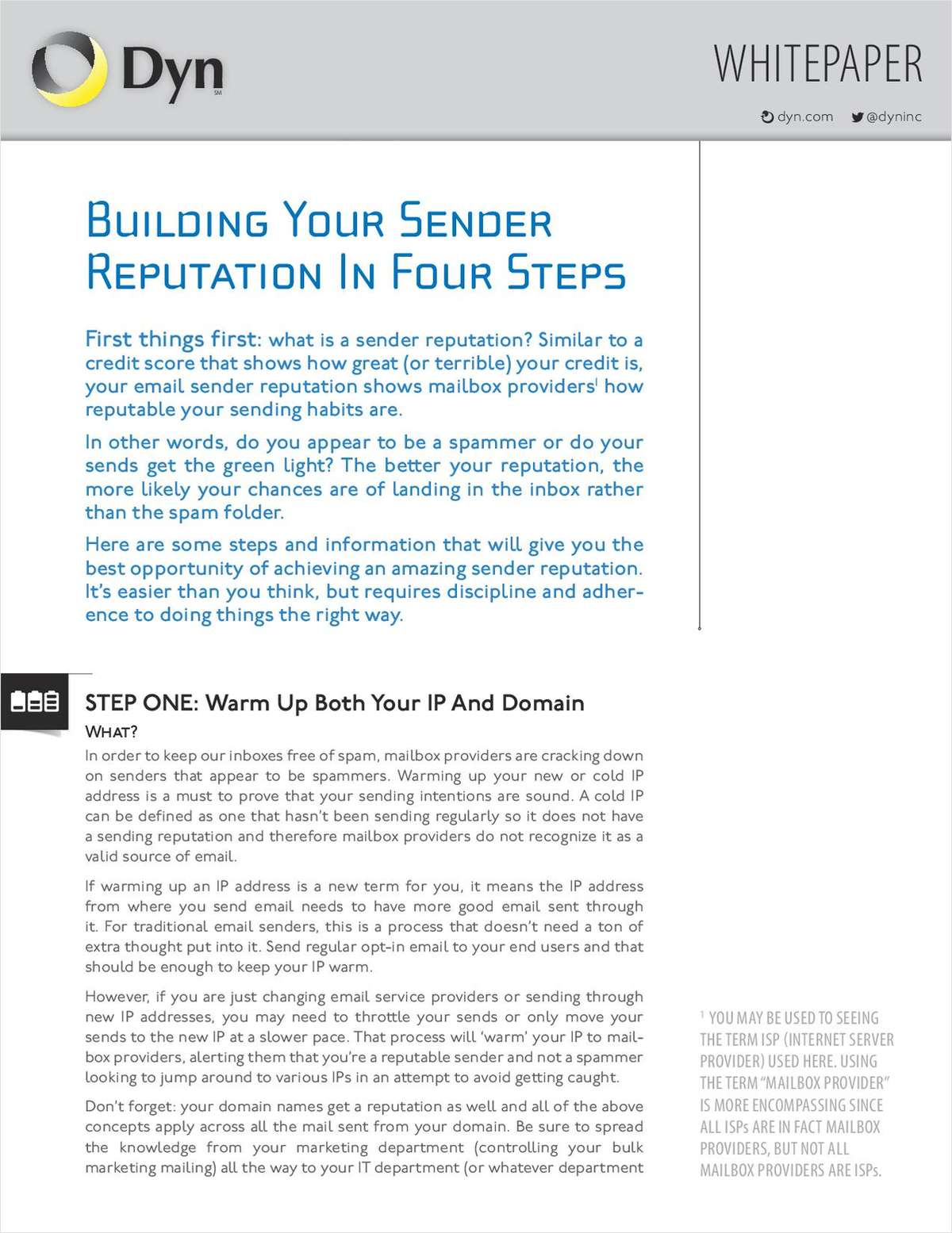 Building Your Sender Reputation In Four Steps