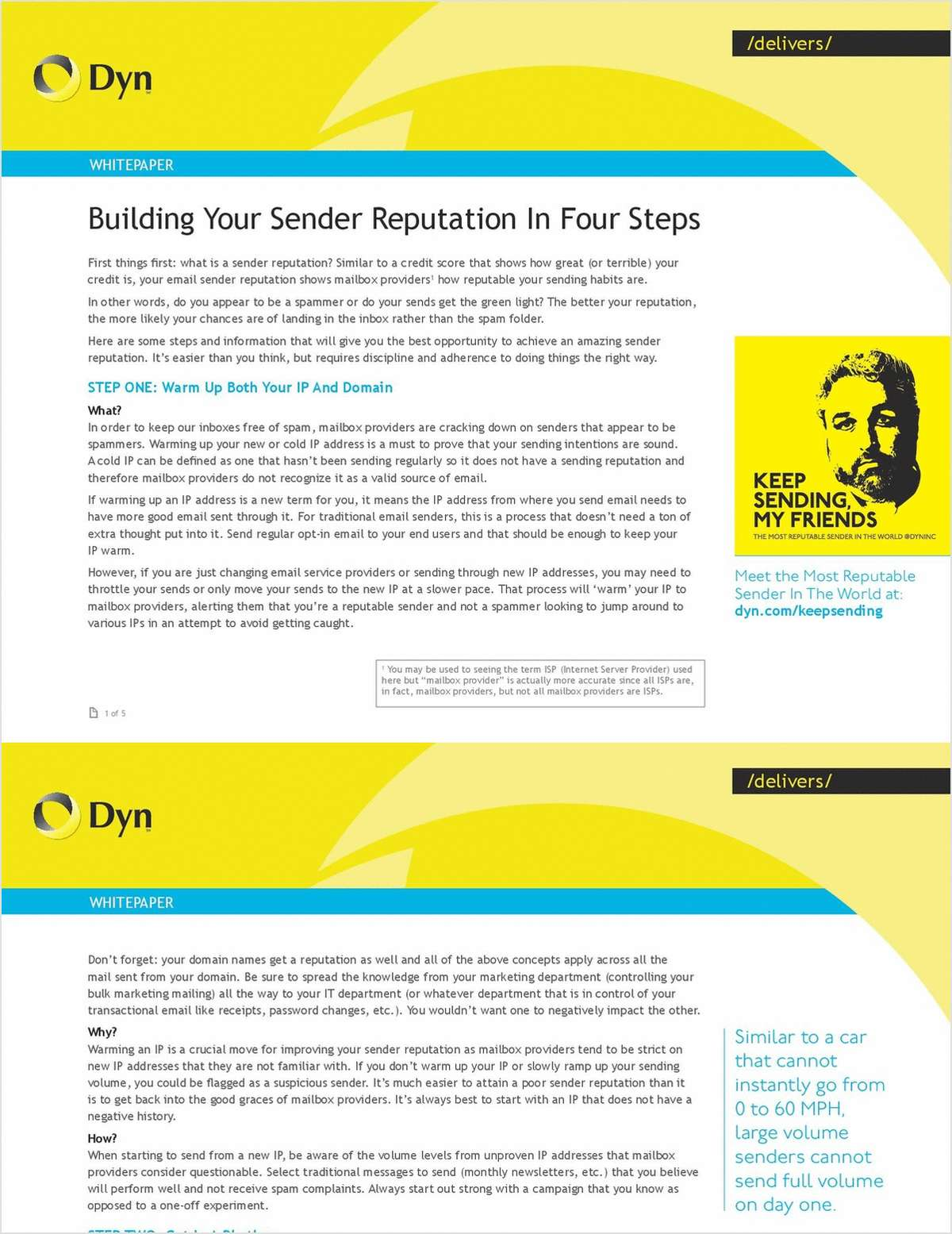 Build your Sender Reputation in Four Steps