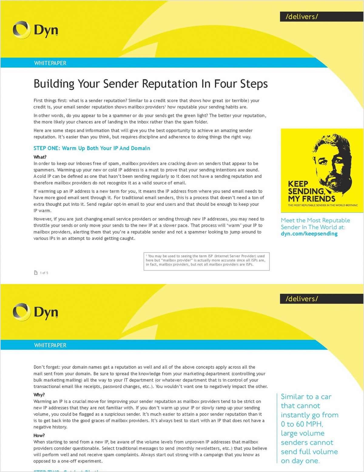 Four Steps To Build your Sender Reputation