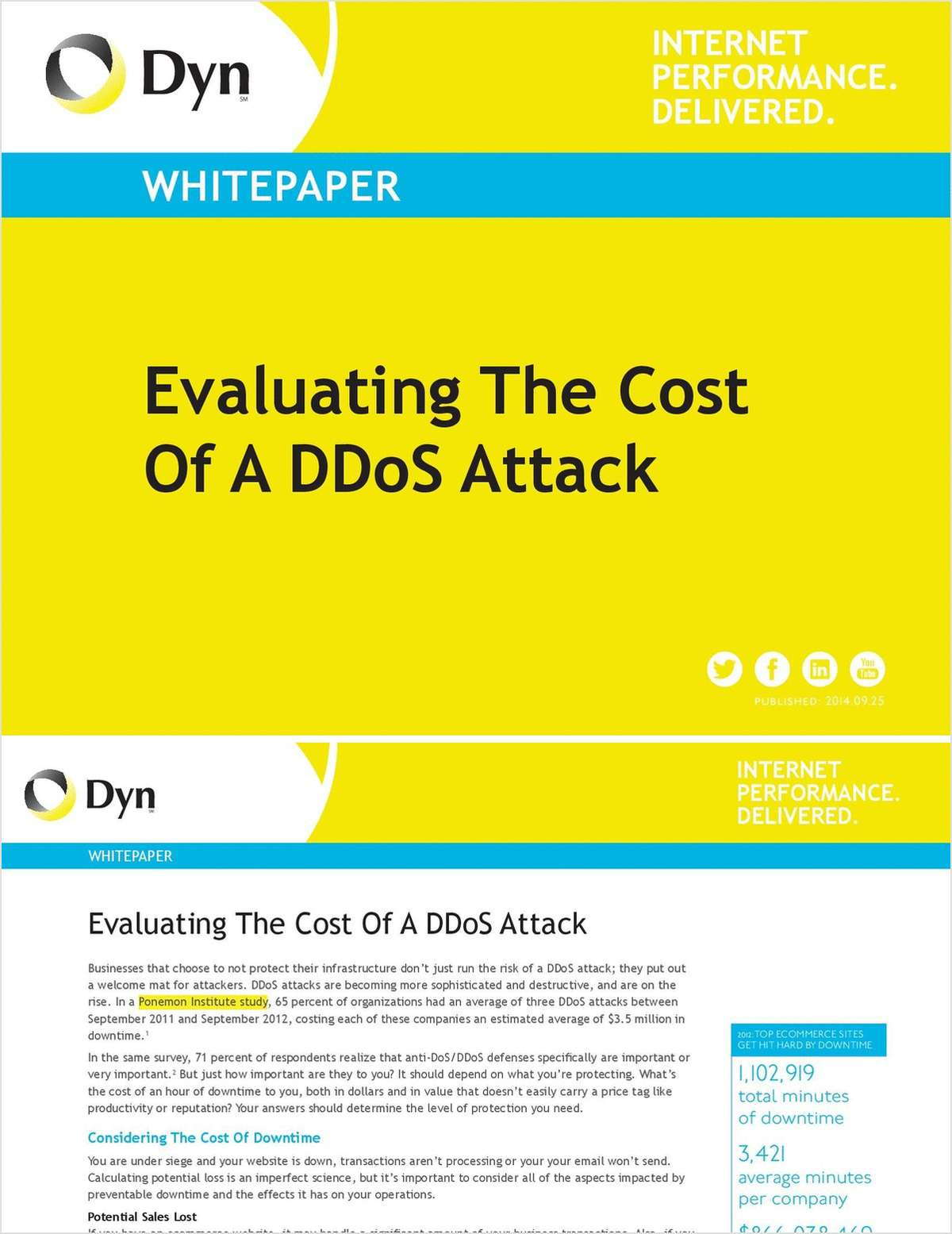 Evaluating The Cost of A DDoS Attack