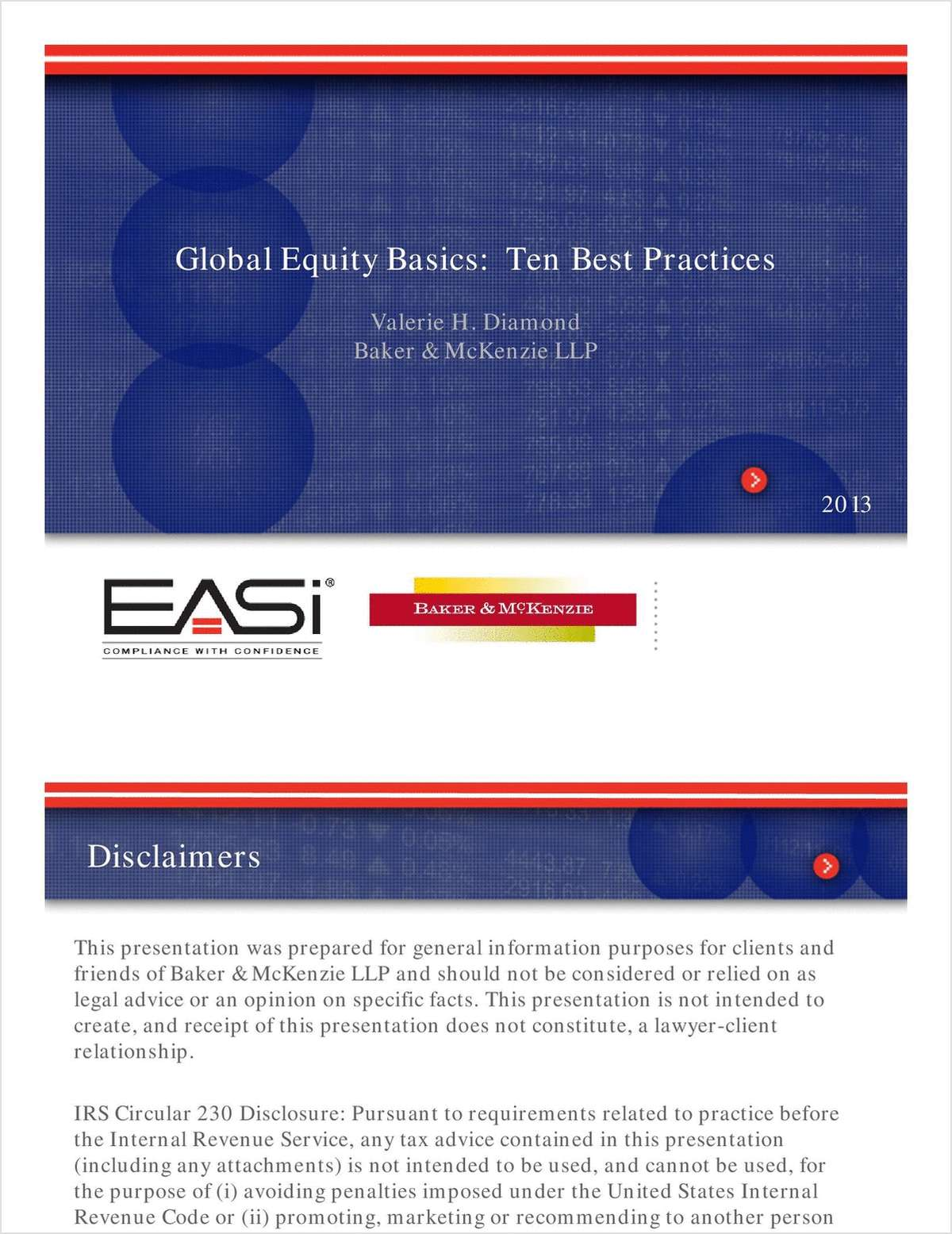 Global Equity Guidebook -- Ten Best Practices