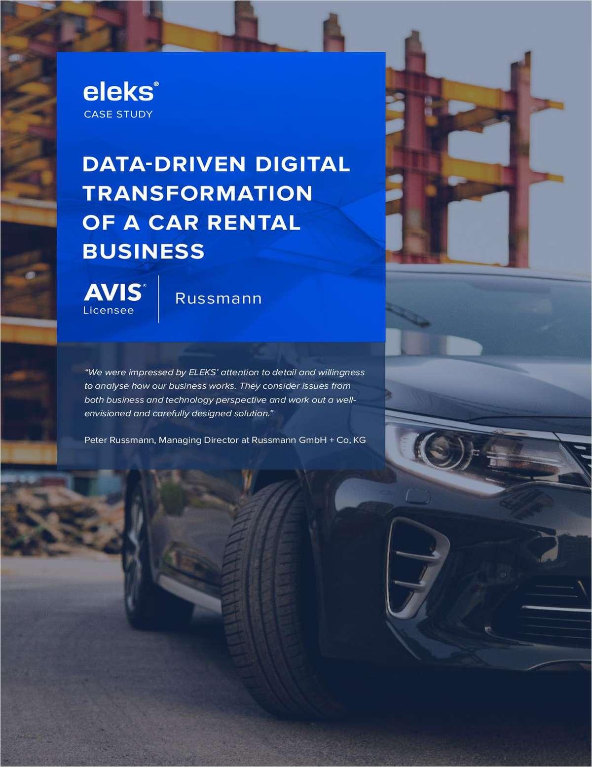 AVIS Russmann Case Study: Data-driven Digital Transformation of a Car Rental Business