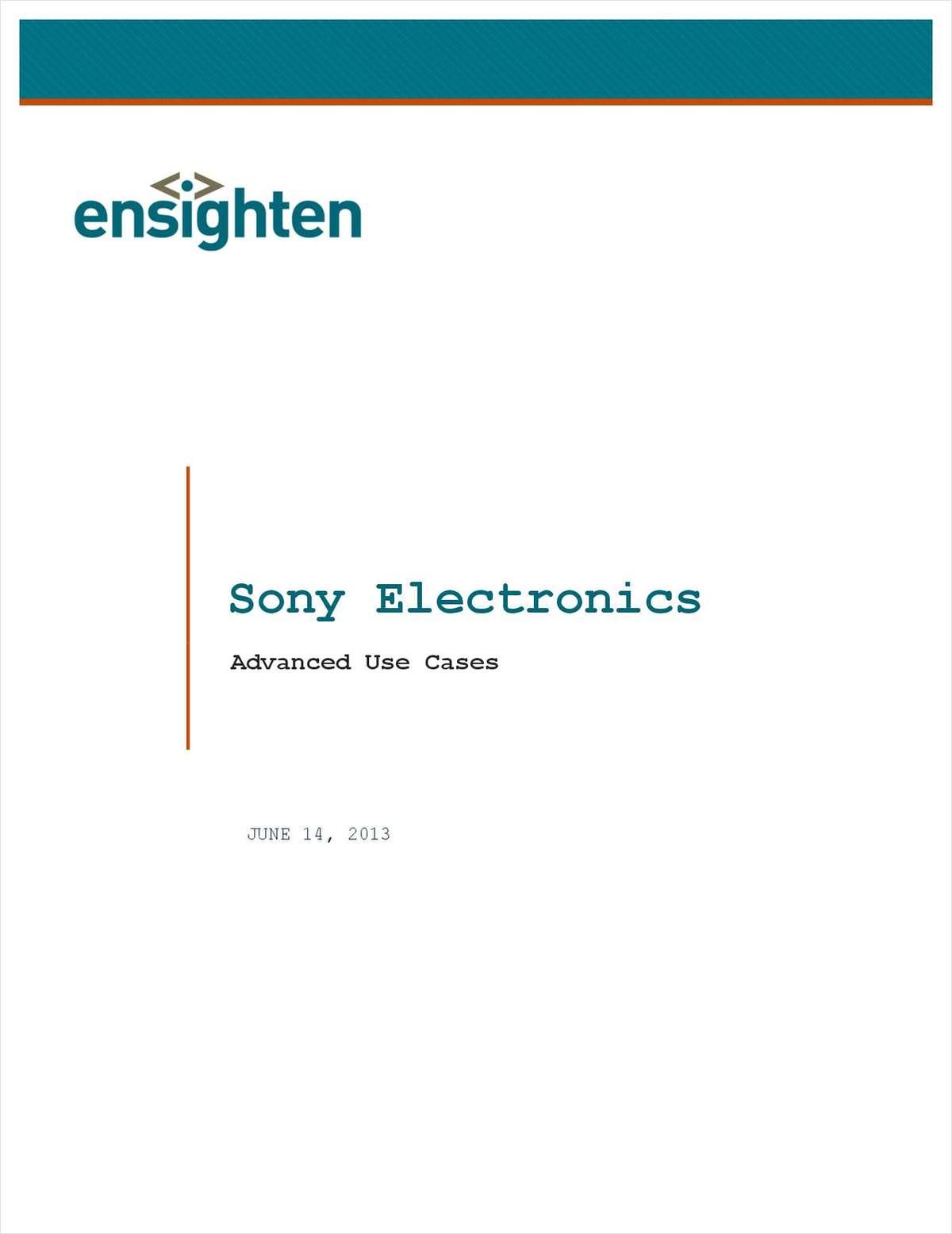 Advance Use Case: Sony Electronics