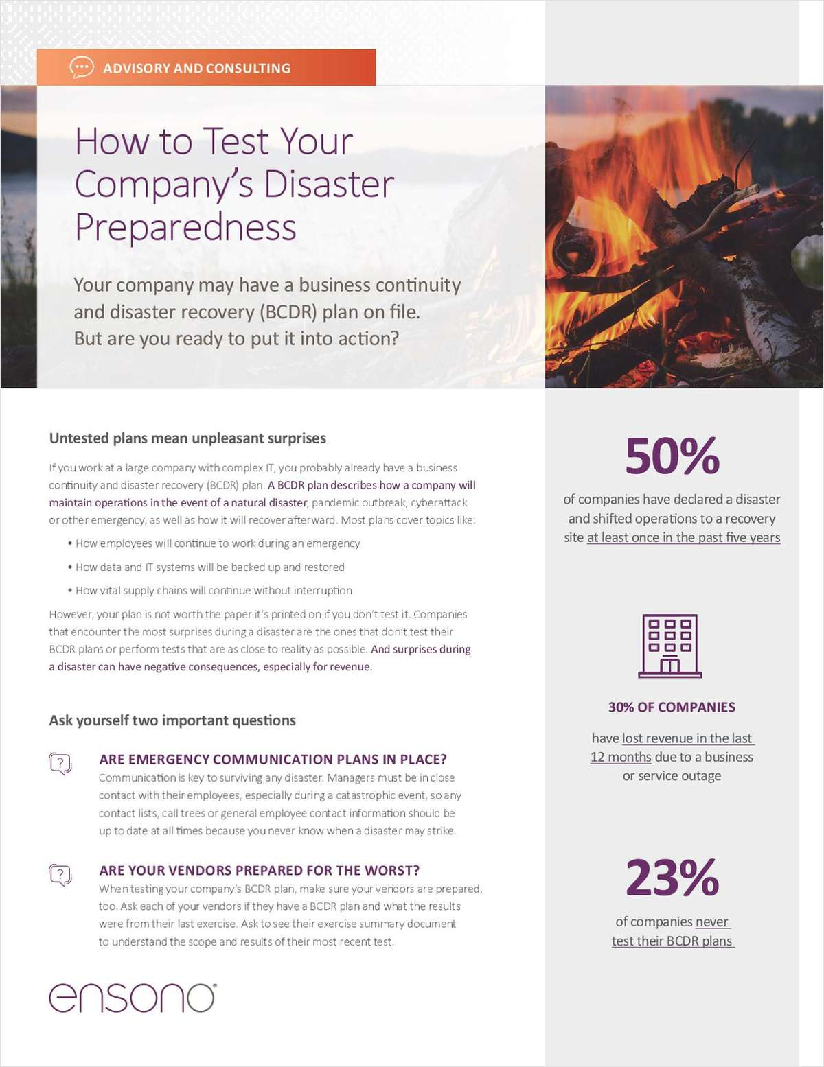 Business Continuity/Disaster Recovery (BCDR)
