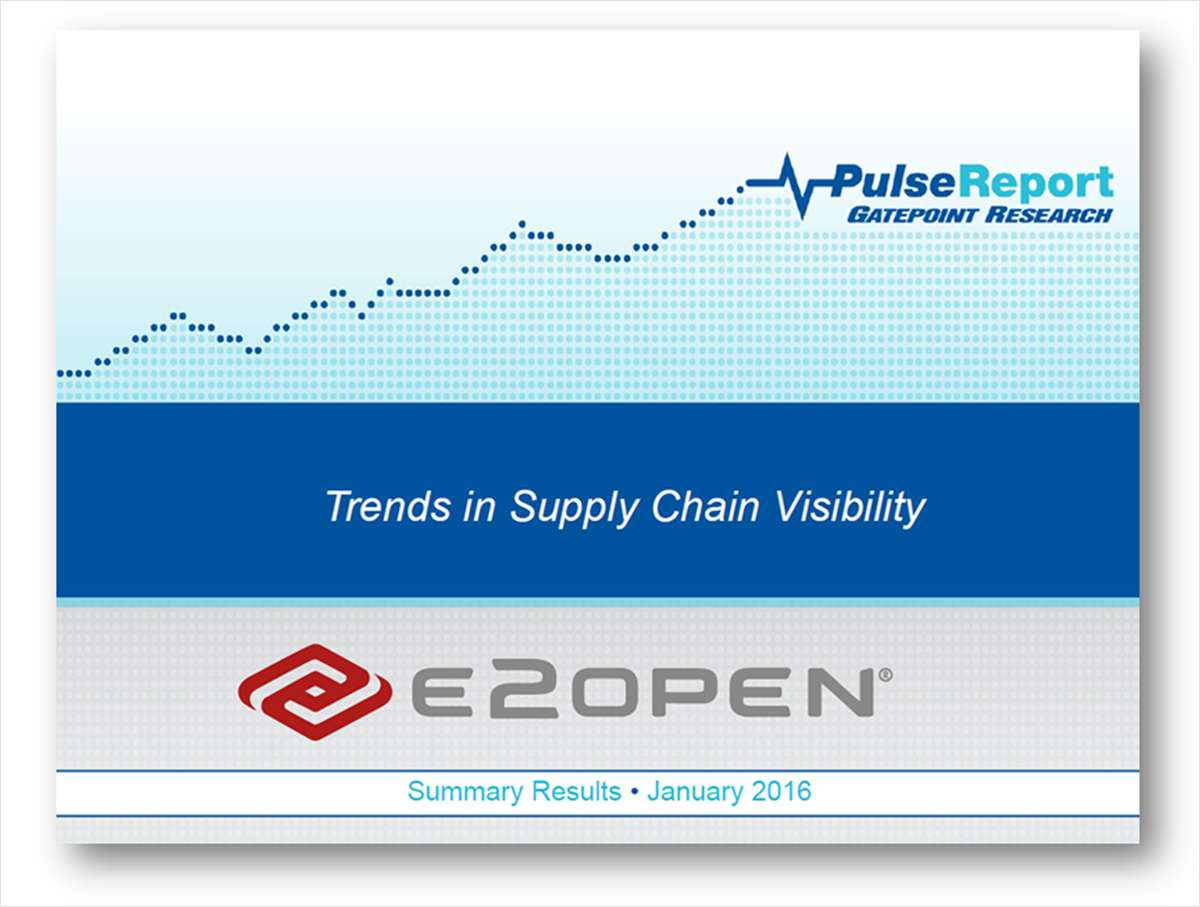 Survey Results: Trends in Supply Chain Visibility