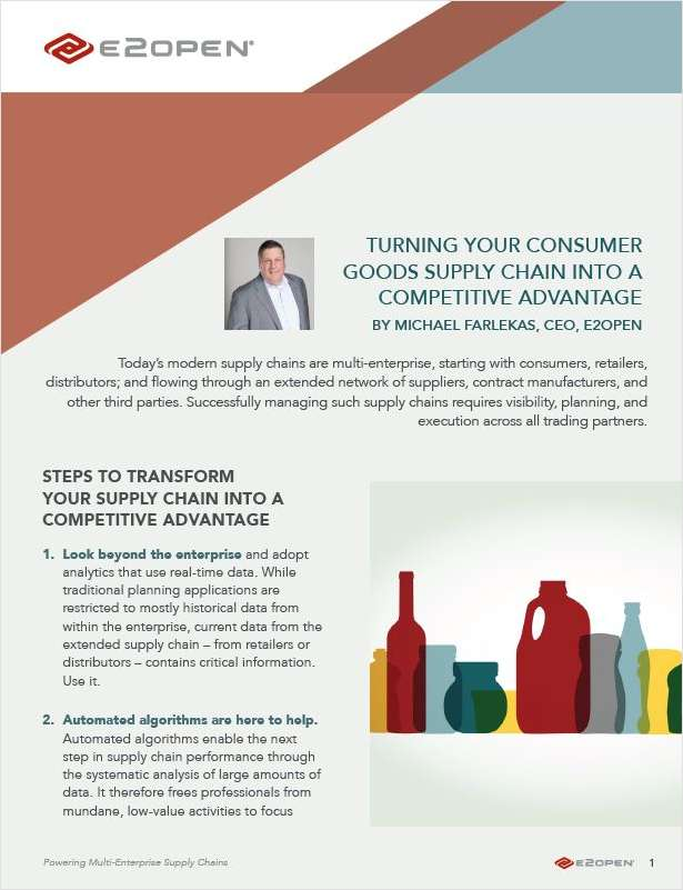 Turning Your Consumer Goods Supply Chain Into a Competitive Advantage