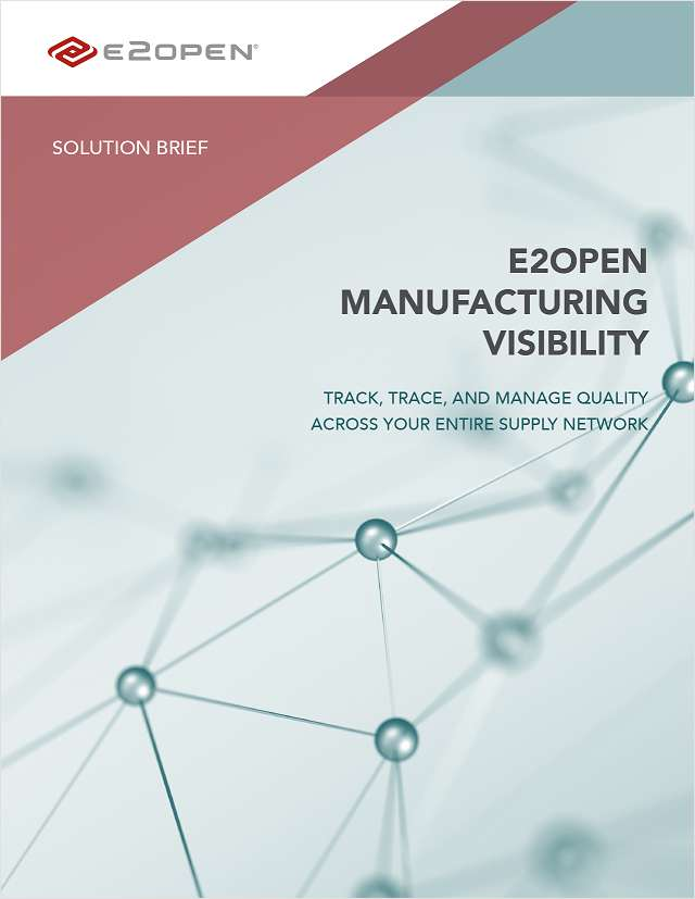 E2open Manufacturing Visibility Solution Brief