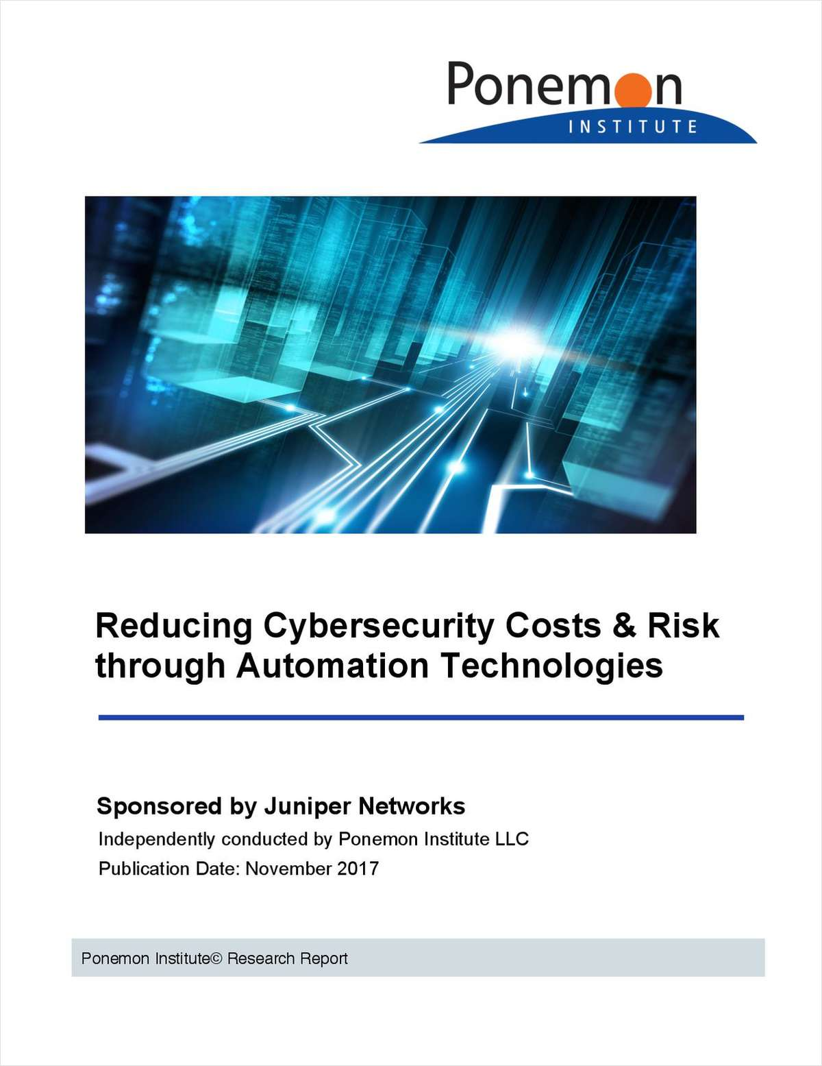 Ponemon: Reducing Cybersecurity Costs & Risk through Automation Technologies