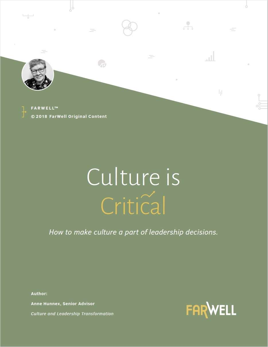 Culture is Critical