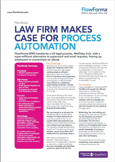 Law Firm Makes Case for Process Automation