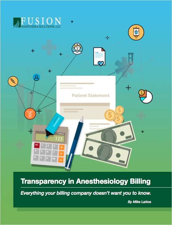 Transparency in Anesthesiology Billing