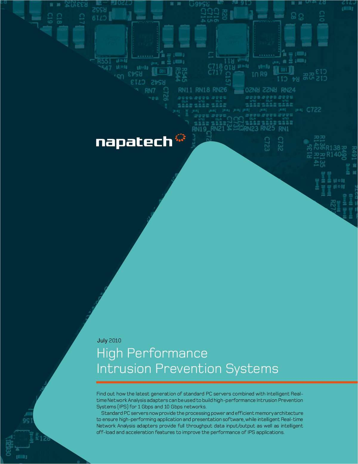 High Performance Intrusion Prevention Systems for Network Security Vendors