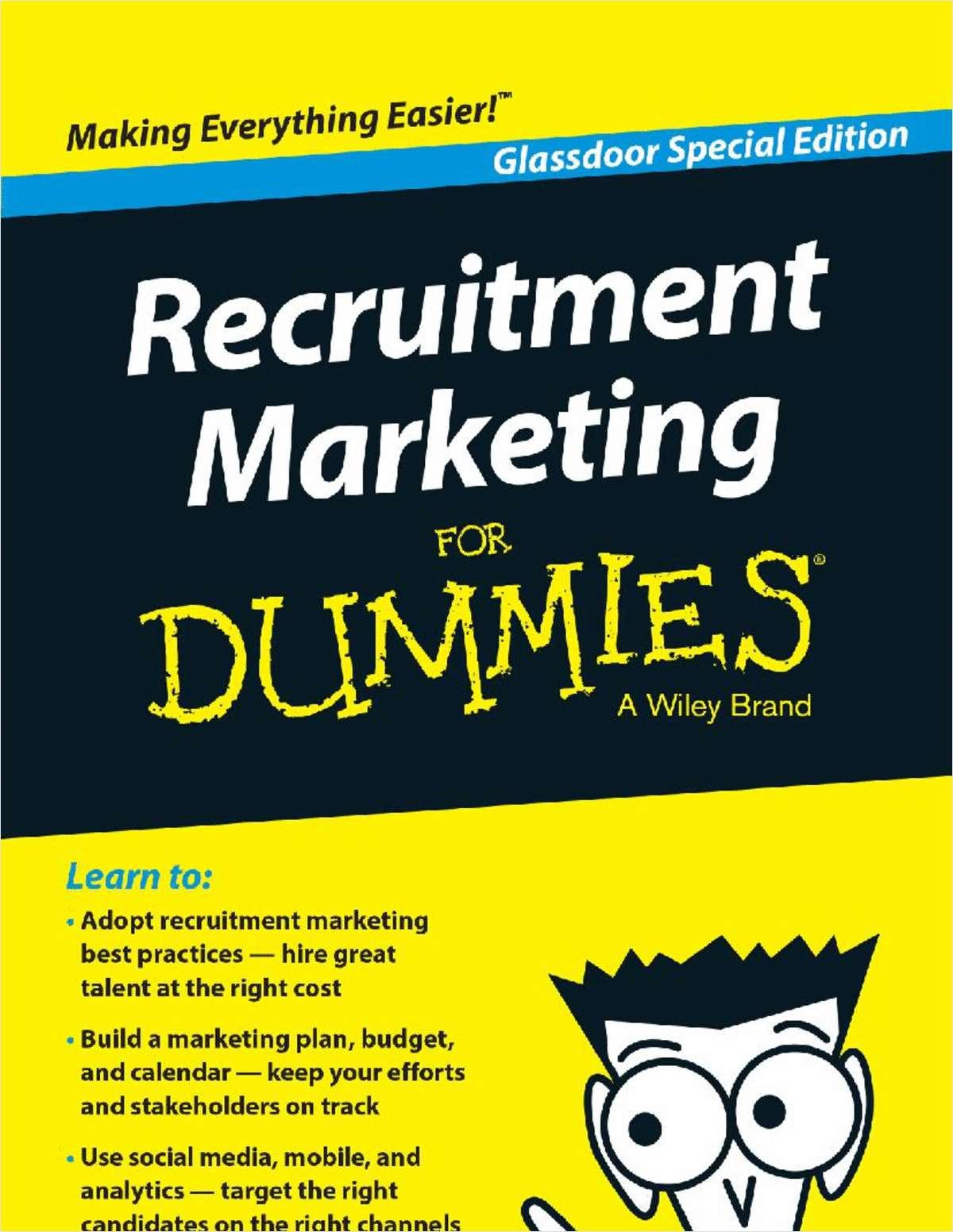 Recruitment Marketing For Dummies®, Glassdoor Special Edition