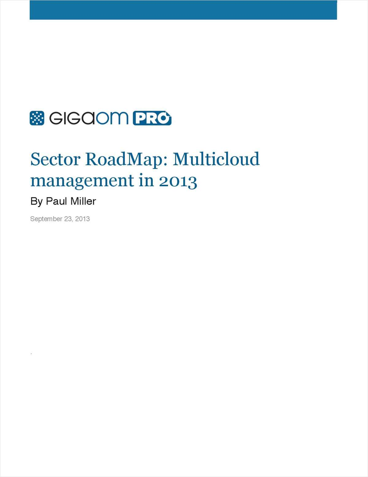 Multicloud Management - GigaOM's