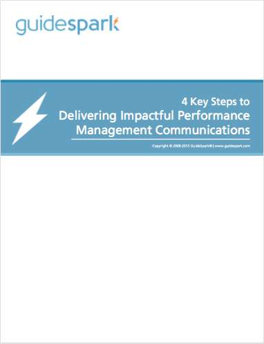 4 Key Steps to Delivering Impactful Performance Management Communications