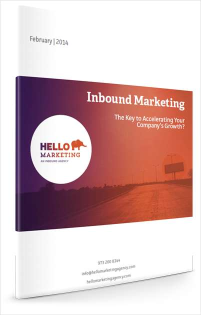 Inbound Marketing: The Key to Accelerating your Company's Growth?