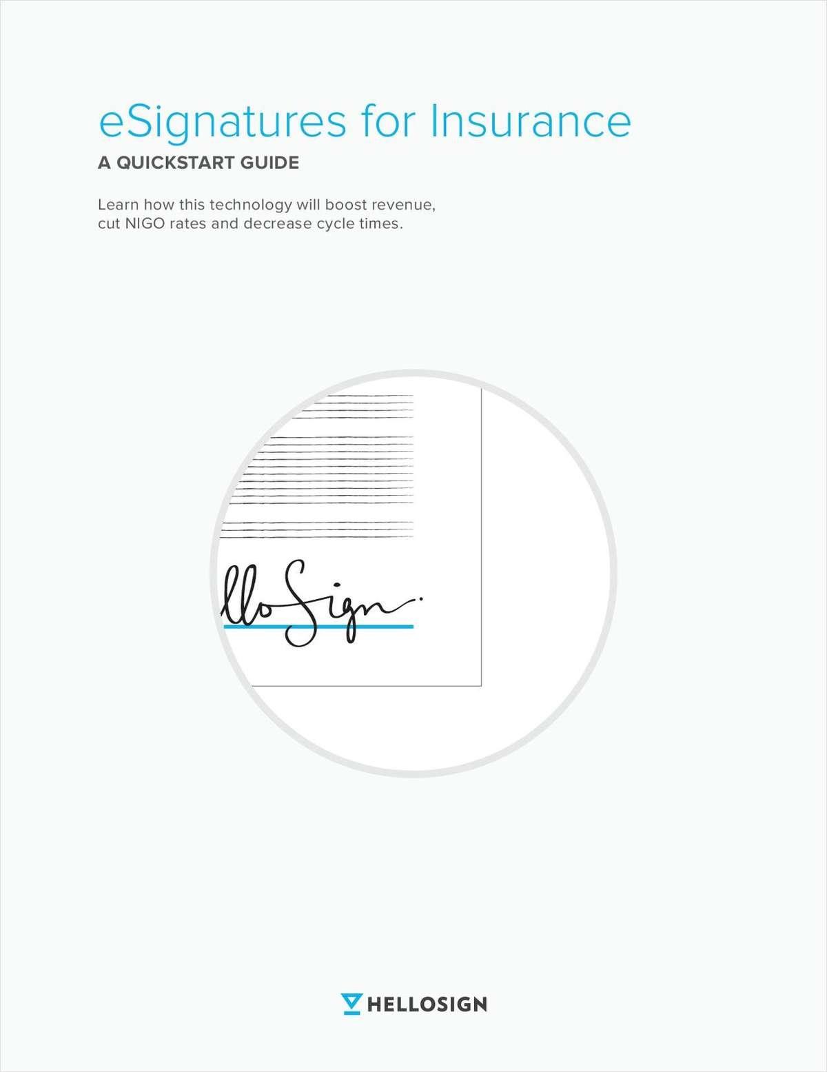 A Quickstart Guide: eSignatures for Insurance