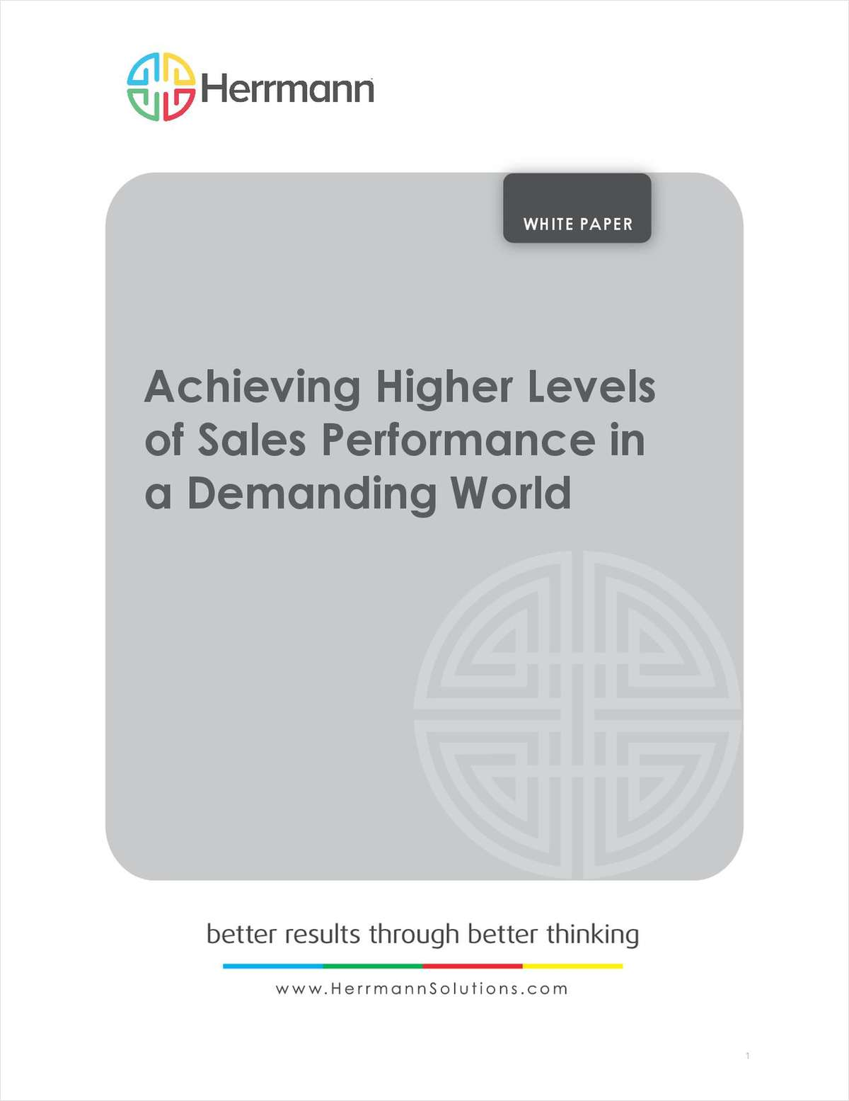 Achieving Higher Levels of Sales Performance in a Demanding World