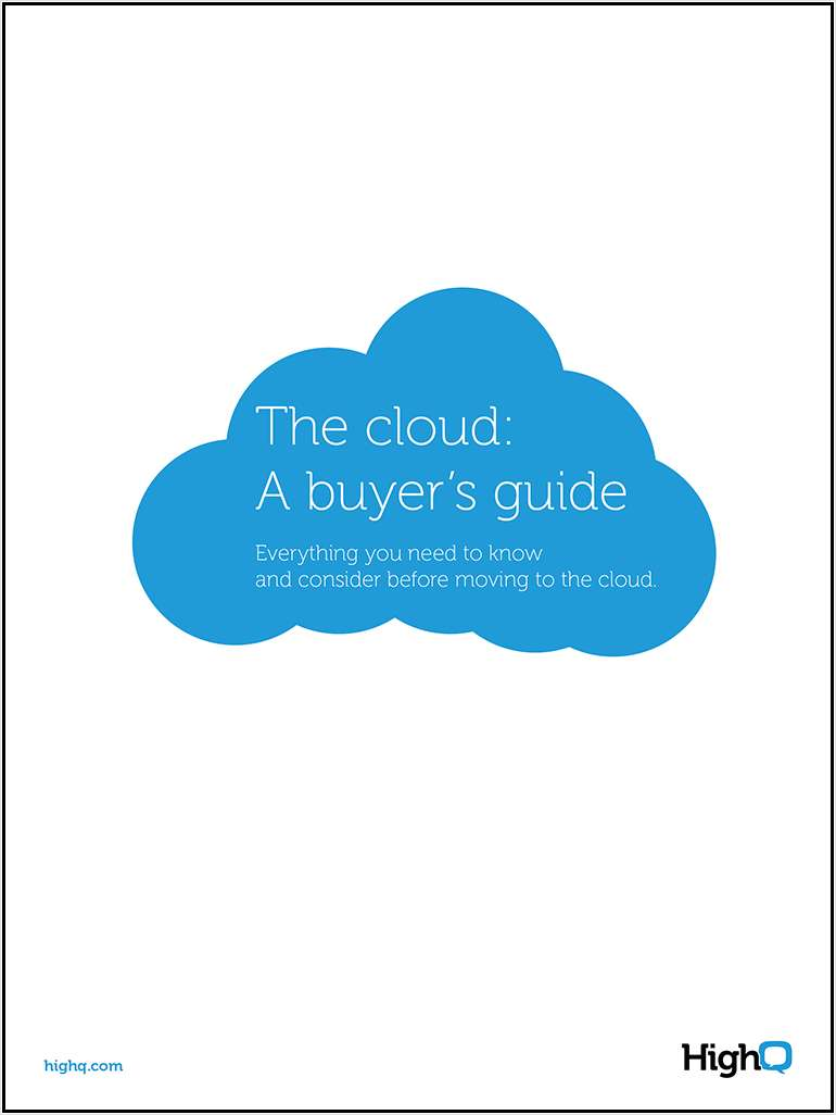 The cloud: A buyer's guide