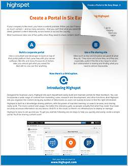 Create a marketing and sales portal in six steps